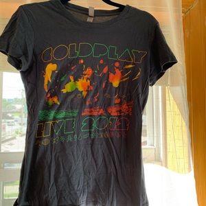 Coldplay 2012 tour t shirt